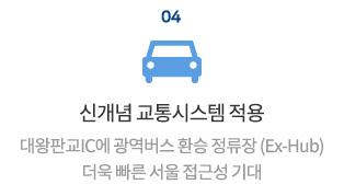 신개념 교통시스템 적용. 대왕판교IC에 광역버스 환승 정류장(Ex-Hub) 더욱 빠른 서울 접근성 기대